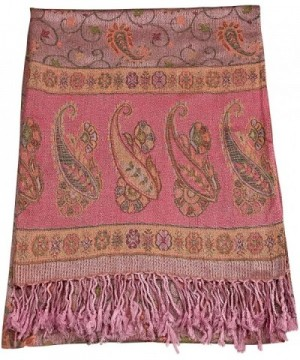 CJ Apparel Iridescent Cloud Design Shawl Pashmina Scarf Wrap Stole Seconds NEW - Pink - CG12NZMZXV2