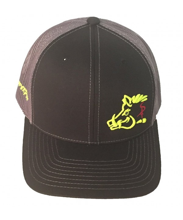 Sniper Pig Black and Yellow Snapback Hat - CI12IJPCGXN