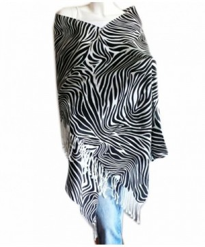 WHITE BLACK PRINTED PASHMINA SHAWL