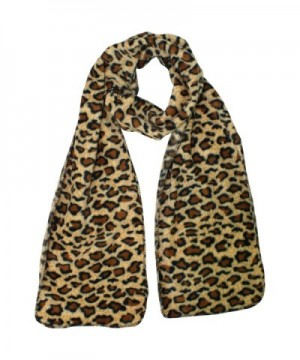 Leopard Fleece 3 Piece Gloves Matching in Fashion Scarves