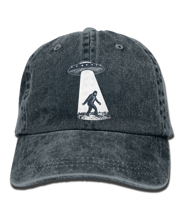 UFO Bigfoot Vintage Adjustable Jean Cap Gym Caps ForAdult - Navy - C91866C33QY