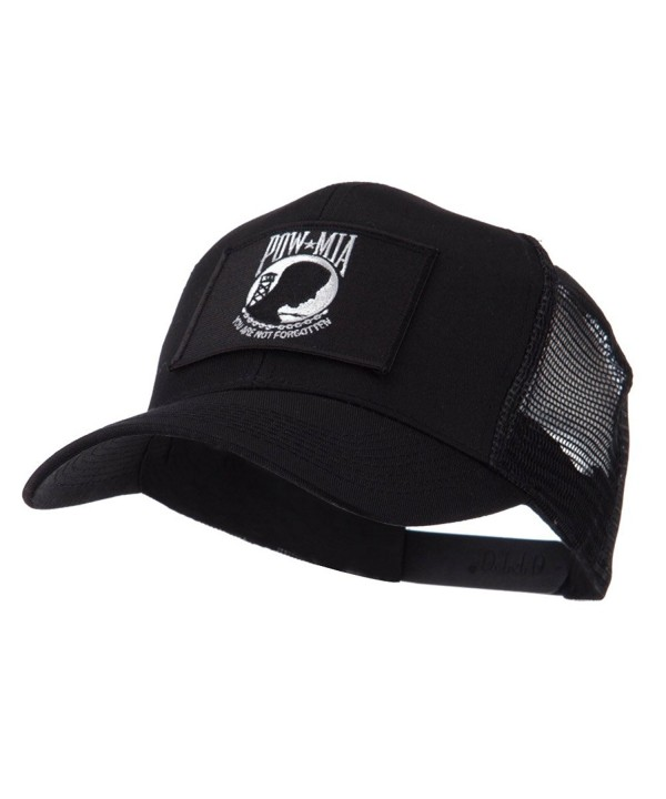 Pow Mia Embroidered Military Patched Mesh Cap - Pow Mia 3 W43S65F - C011E8TA4G5