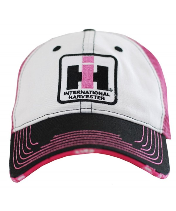 Case IH Two Tone Distressed Trucker Cap Womens Pink - C611C4YXAY9