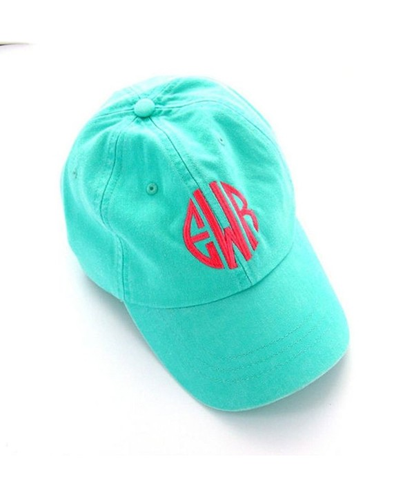 Mary's Monograms Woman's Monogrammed Mint Green Baseball Cap - CE12NA86SE0