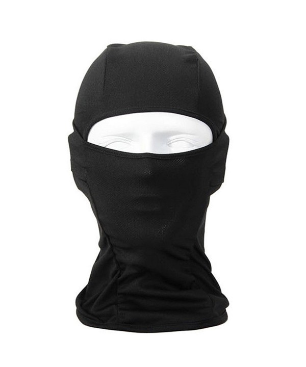 Hi-crazystore Balaclava Ski Mask - Full Face Mask Windproof and Warmer Face Hood - Black - CM17YTCD3KC