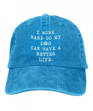 I Work Hard So My Dog Can Have A Better Life-1 Vintage Jeans Baseball Cap For Men And Women - Royalblue - CD188TA4SX8