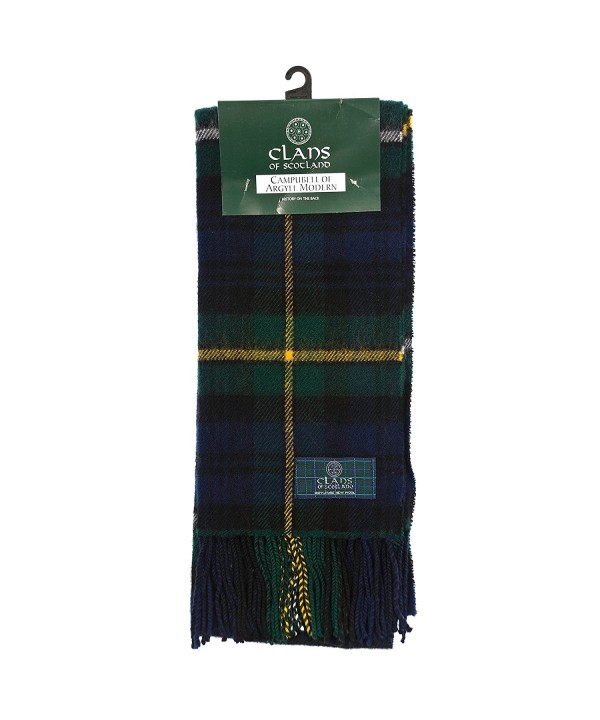 Clans Of Scotland Pure New Wool Scottish Tartan Scarf Campbell Of Argyll (One Size) - CL123BWQC8J