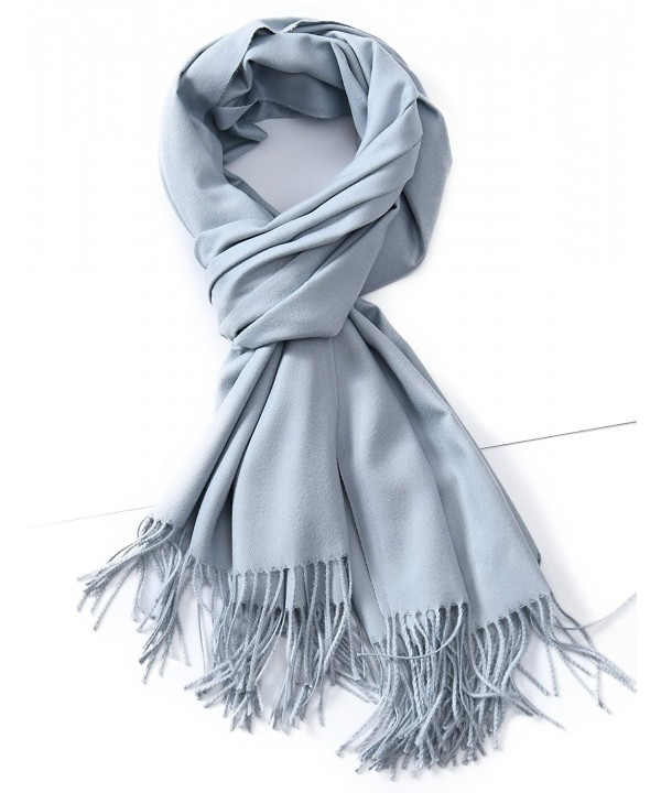 Cindy & Wendy Womens Large Soft Cashmere Feel Pashmina Shawls Wraps Winter Scarf - Ss-light Grey - CR188MI2CT7