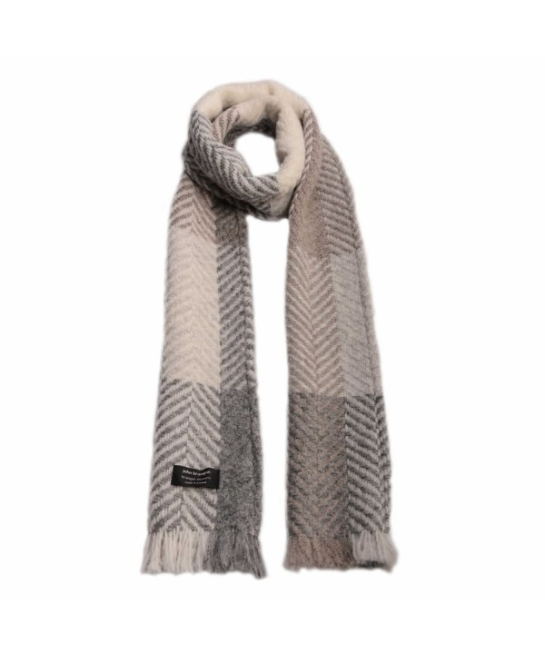 John Branigan Weavers Beige Herringbone Scarf- Made in Ireland - CN185IGCIT4