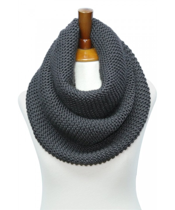 Knitted Infinity Waffle Various Charcoal - Basico Charcoal Gray - CC186N54IO5