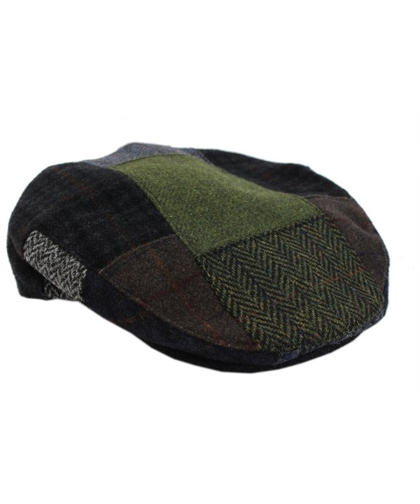 Mucros Patchwork Cap Earthtone Neutrals Tweed From Ireland - CS127MEJ329