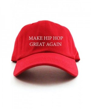 Make Hip Hop Great Again Custom Unstructured Dad Hat - Red - CQ12O0W827B