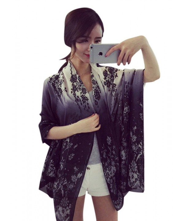 JD SUITCASE Fashion Lace Print Shawl Wrap Lightweight Scarves For Women - CU12O53TKF3