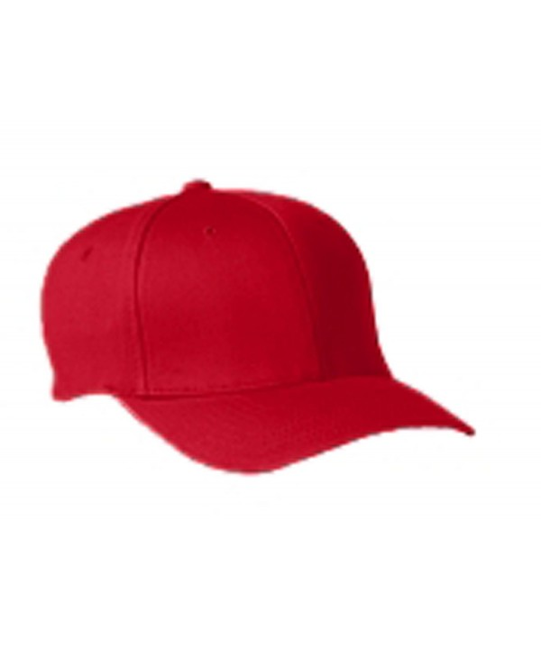 Flexfit Yupoong Wooly 6-Panel Twill Structured Cap - Red - CC110MKT7VD