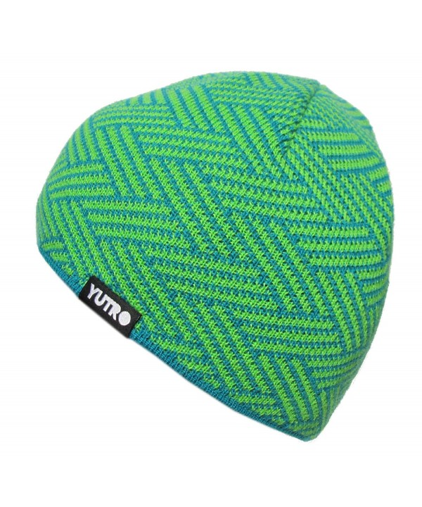 """YUTRO Fashion Wool Knitted Fleece Lined Ski Beanie With """"No Wind"""" Insulation - Green - CL11K422VFN"""