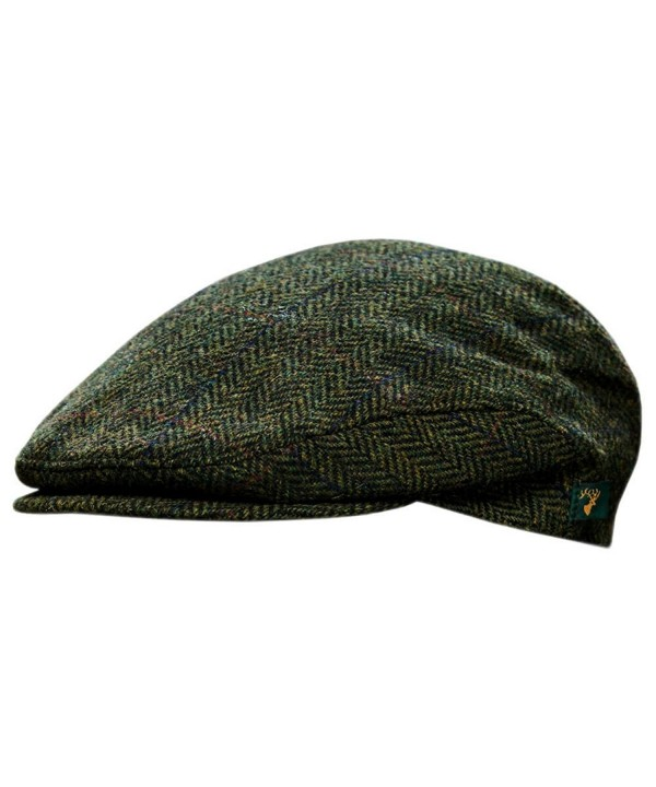 Men's Donegal Tweed Cap - Green - CK11HH1ROXN