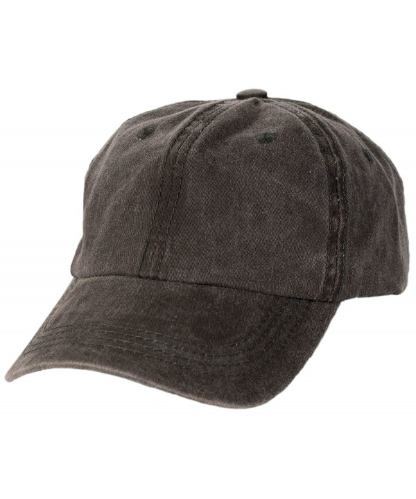 Levine Hat Unisex Stone Washed Cotton Baseball Cap Adjustable Size (7+ Colors) - Black - C911ZX8VNJN