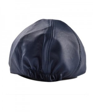 TONSEE Vintage Leather Peaked Newsboy in Men's Newsboy Caps