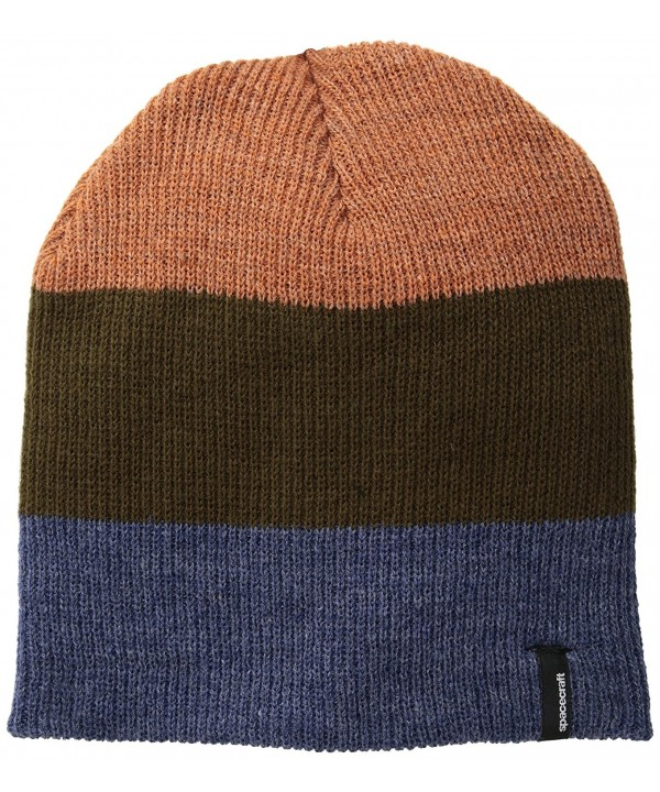 Spacecraft Offender Stripe Beanie - Dark Brown - CI11LXWWD51