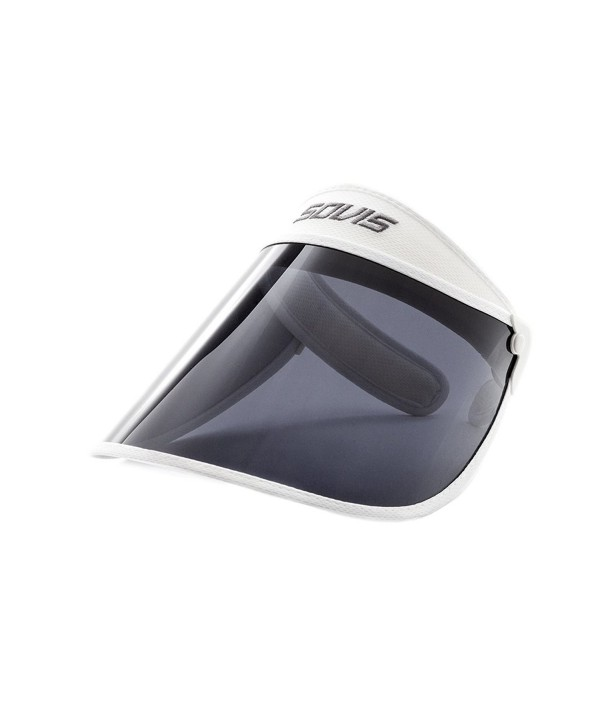 Sovis White Extended Length 97.2% & up Uv Protection Solar Visor Worldwide Patented - CP116NX1YNR