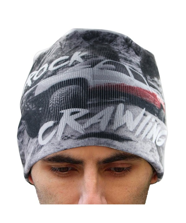 EZGO Unisex Warm Knitted Winter Beanie Hats With Pickup Printing- One Size Fits Most - C1187LSQHIU