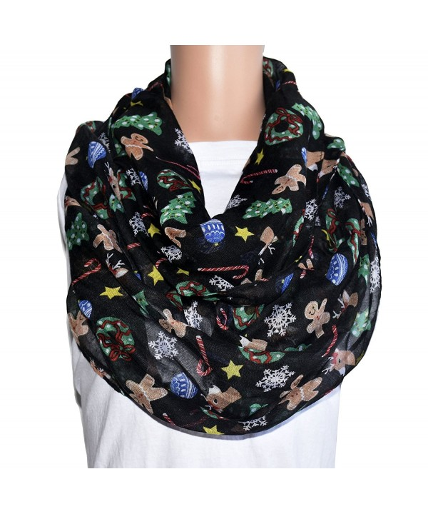 TOOTO Merry Christmas Sheer Lightweight Scarf Print Shawl For Christmas Season - Infinity Scarf - CQ188Y9HCT3