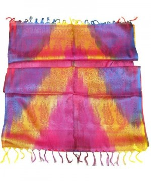 Womens Beautiful Pink Silk Scarf in Fashion Scarves