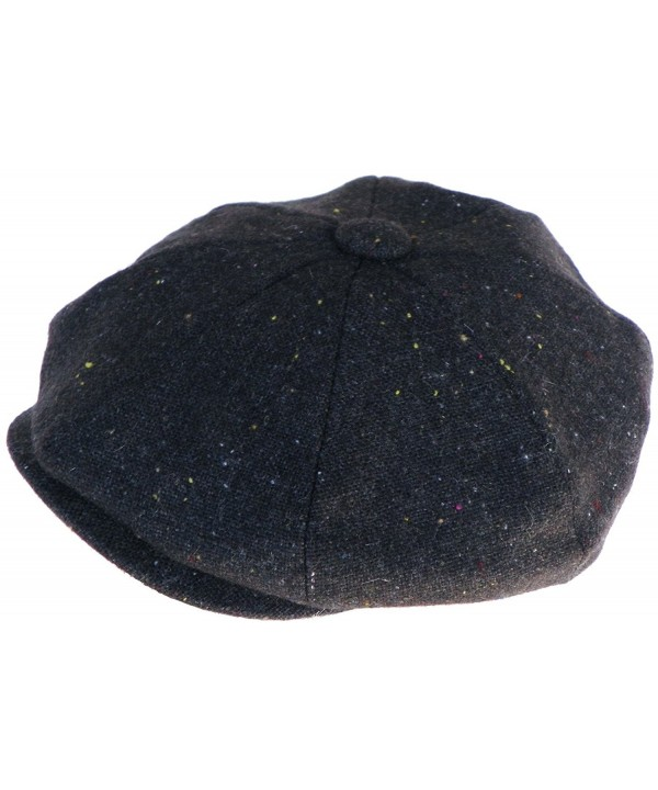 Broner Wool Confetti Tweed Gatsby Cap Apple Jack 8/4 Newsboy Hat - Stone - CE12NZPFD0L