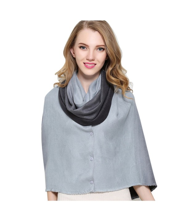 Silk Scarf Fashinable Blanket Buttons - Gray-houndstooth - C8185RKH23O