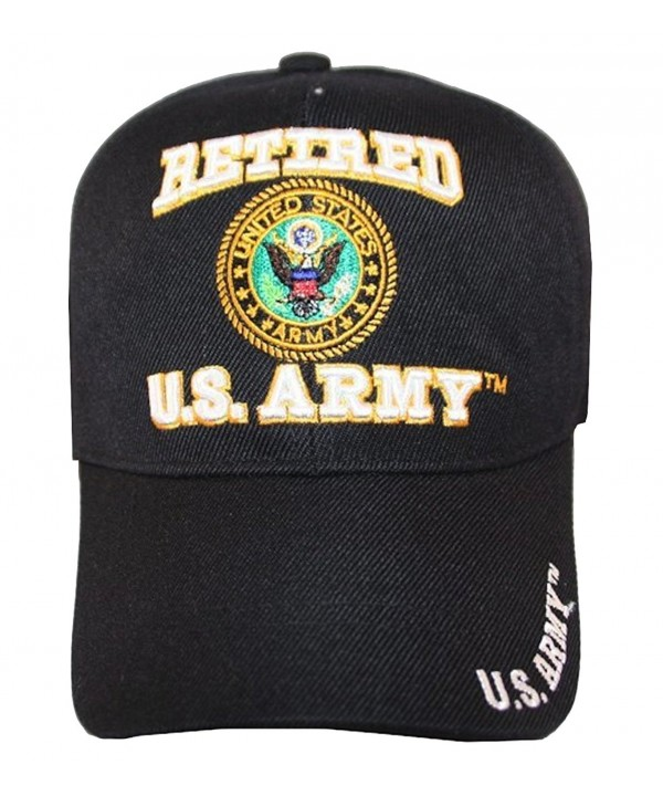 US Army Veteran Hat Army Veteran Cap (Pick Your Style) - army retired hat cap black - C811M9D08TL