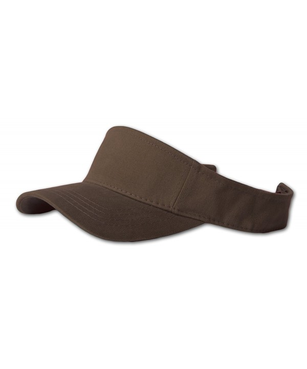 Plain Single Sports Visor- Brown - C2112PS7DDT