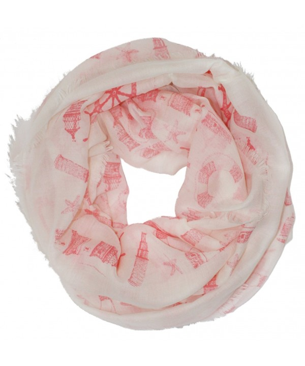 Ted and Jack - Ocean Breezes Nautical Infinity Scarf - Rose - CT12FWY27QZ