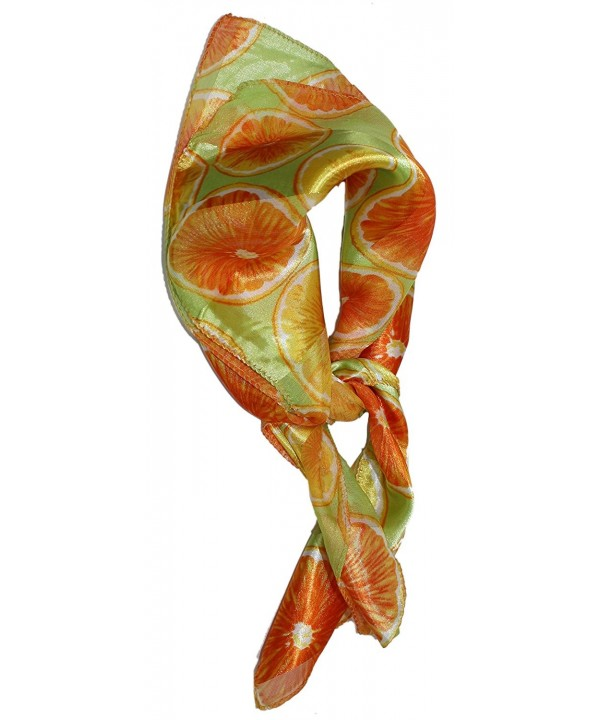Ted and Jack - Summertime Fresh Fruit Silk Feel Neckerchief Scarf - Orange - CP12CNQPG9P