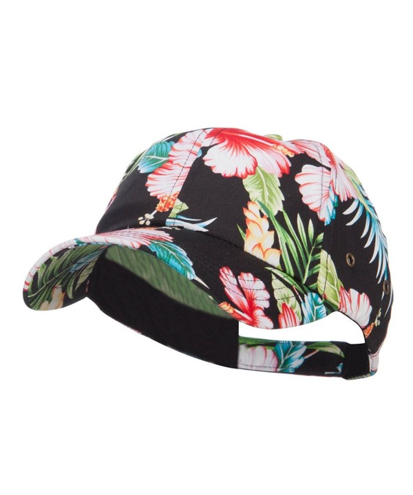 Low Profile Cotton Floral Cap - Black - CE124YGZ80T
