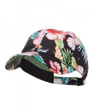 Low Profile Cotton Floral Cap - Black - CE124YGZ80T