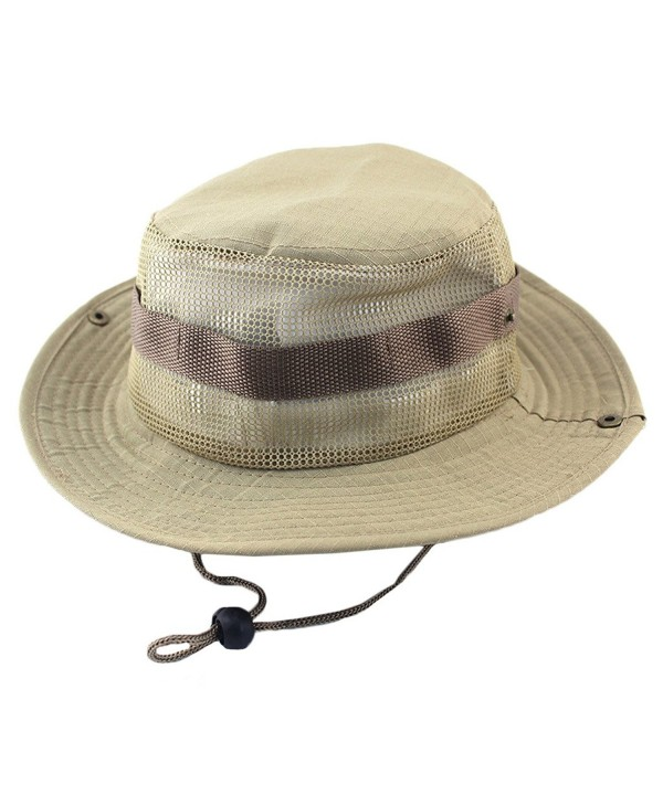 Sawadikaa Outdoor Boonie Hat Summer Sun Protect Caps Fishing Hats Mesh Bucket Hat - F - CJ182OEWTW4