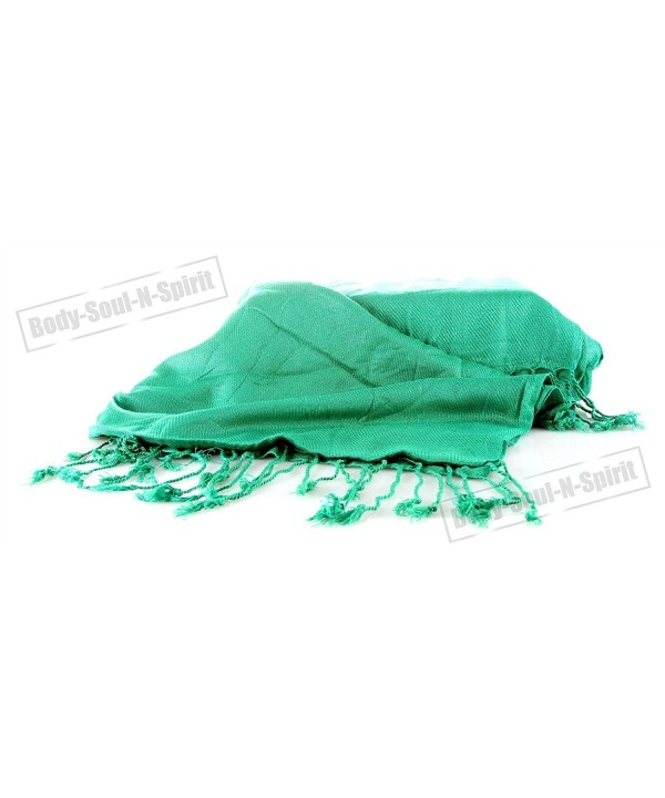 GREEN Wrap Shawl Pashmina Dance Lady Ethnic Gypsy Women Fashion Stylish Soft Scarf - CD11LQSU1V5