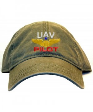Spiffy Custom Gifts UAV Pilot with Wings Low Profile Baseball Cap - Olive - CQ129G5Y3BD