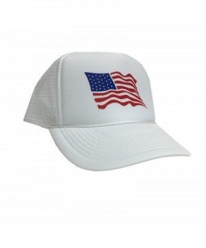 P&B Flag Of The United States Of America Adjustable Unisex Adult Hat Cap - White - CI12IGHT597