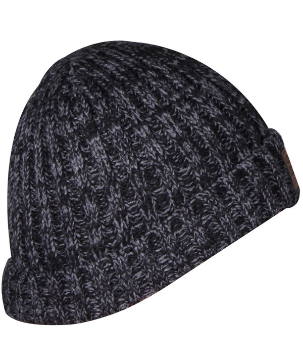 ORSKY Cuff Winter Beanie Caps Knit Beanies For Women Mens Toboggans Skull Cap Ski Hat - Dark Grey - CA1884GZXDX