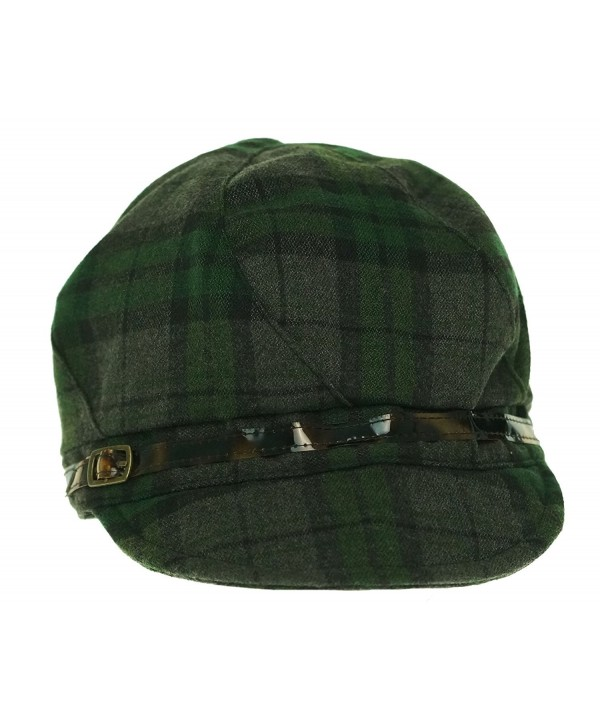 August Women's Wild 4 Plaid Mod Cap Green - CI11O35G51X