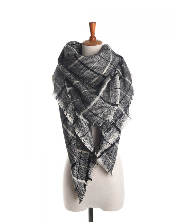 M RACLE Women's 2015 New Winter Plaid Tartan Grids Warm Blanket Scarf Shawl Wrap - Plaid 4 - C21267KBOKN