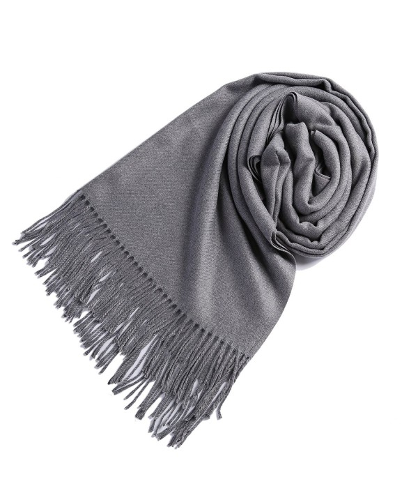 Timo Lee Fashion Cashmere Scarves Pashminas - Gray - CQ1868XCZ02