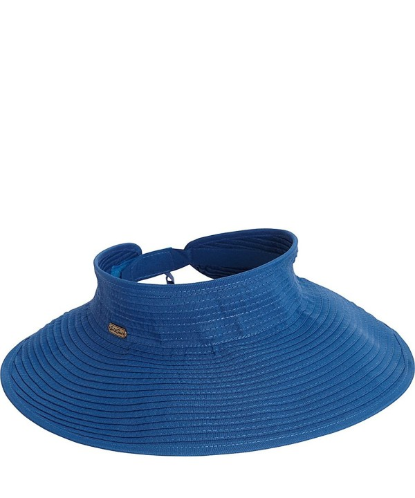 Sun 'N' Sand Roll Up Visor - Royal Blue - CV124XV0YNB