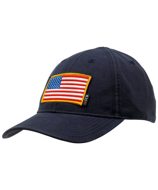 Gadsden and Culpeper 5.11 Flag Bearer Cap Bundle (USA Patch + Hat) - Navy - CB128UODDZX