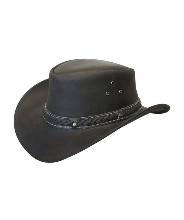 Down Under Leather Hat - Black - CM11FRDJJDV