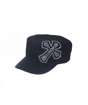 Crystal Cross Black Rhinestone Hat Cap - CL113FCSBZ3
