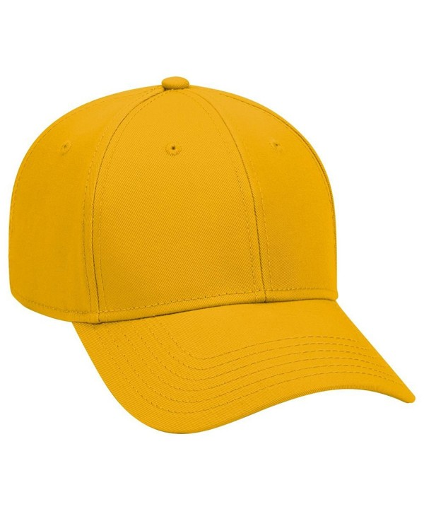 Otto 6 Panel Low Profile Superior Cotton Twill Cap - Gold - CL12IVBCZI1