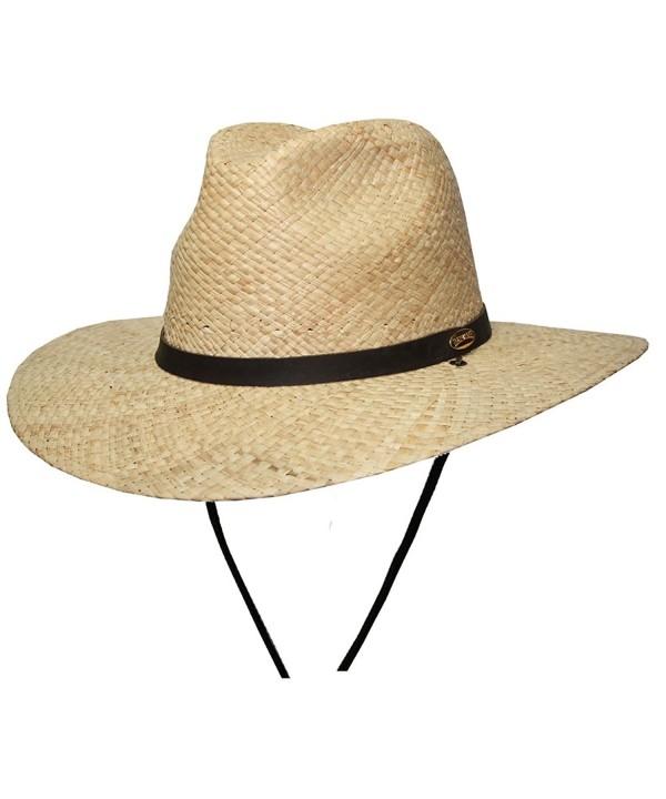 Barmah Hats Fisherman's Fedora Hat 1027NA - Natural - C7117R2KJH5