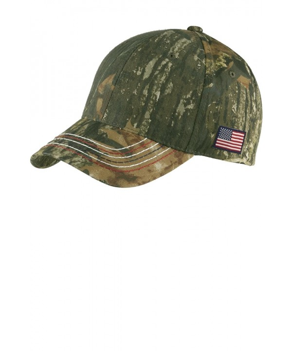 Joe's USA - Realtree Adjustable Camo Camouflage Cap Hat with American Flag - Mossy Oak New Break-Up - CK11SJ7LQIX